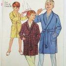 Simplicity 6767 boys robe size 10 pattern vintage 1966