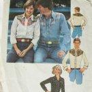 Simplicity 7917 man western style shirt size 42 44 pattern vintage 1977 pattern
