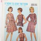Simplicity 6308 misses shortwaist dress size 16 Bust 36 vintage 1965 pattern