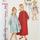 Simplicity 5738 girls child robe duster size 4 vintage 1964 patttern