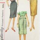 Simplicity 3626 misses straight skirt size waist 28 vintage 1960s