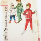 Simplicity 4636 child hooded jacket & pants size 6 breast 24 UNCUT vintage