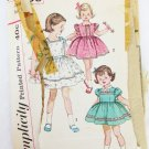 Simplicity 3530 girl dress size 6 breast 24 vintage pattern