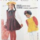McCall 2651 girl's jumper & blouse sizes 3 4 5 UNCUT pattern
