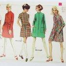 Simplicity 7366 misses vintage tent style dress size 12 bust 32 pattern 1967
