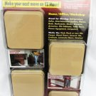 "EZ Moves P3 Furniture Sliders permanent 3"" squares beige sealed package"