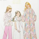 Simplicity 7202 child pajama nightgown robe sizes 12 14 pattern