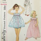 Simplicity 2582 child nightgown pajamas size 6 vintage pattern breast 24