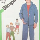 Simplicity 5233 boys pants shorts shirt jacket size 7 breast 28