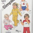 Simplicity 5398 toddler pullover top pants short UNCUT size 1/2 1 2 pattern Knits