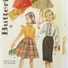 Butterick 9849 girls skirt wardrobe size 8 waist 23 UNCUT vintage pattern
