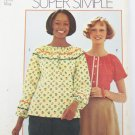 Simplicity 5925 misses peasant type blouse size 12 14 Medium from 1973