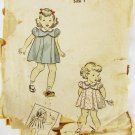 DuBerry little girls dress vintage 1943 pattern size 1