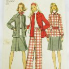 Simplicity 5455 misses coordinates pleated skirt jacket pants size 12