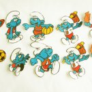 10 Smurf iron on appliques baseball football soccer motifs