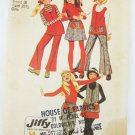 Simplicity 8590 girls size 12 vintage tunic skirt pants 1971 pattern