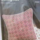 Victorian floral pillow Cross stitch kit Janlynn rose background complete sealed