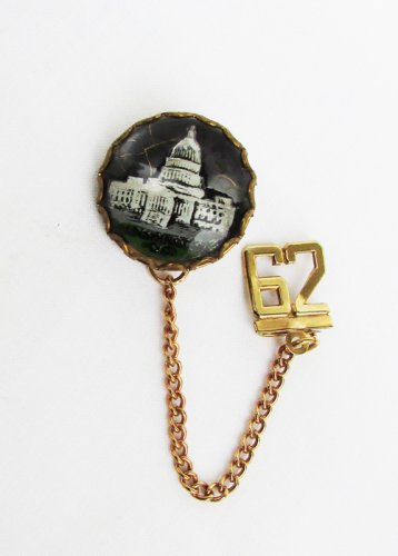 "Washington DC capital bubble charm pin souvenir ""62"" dangle"