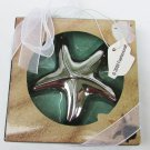 Starfish bottle opener silver tone Fashioncraft new in box wedding party favor