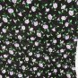 Cranston cotton quilt fabric black background small purple trumpet flowers 1 yard x 44""