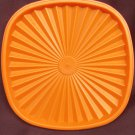 "Tupperware orange press seal square 6 1/2"" lid #841 replacement"