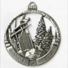 Birds & blooms Christmas ornament 2002 pewter look