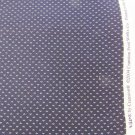 Cranston VIP fabric navy background 3 small cream dots quilting