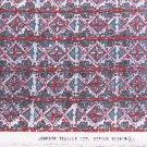 """Johnson textile fabric wild print greys reds white stripes 58"""" wide"""