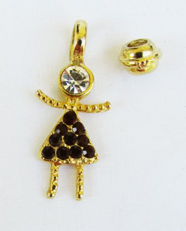 July faux ruby birthstone rhinestone girl child charm pendant for mother pin