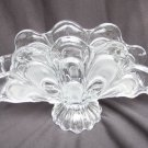 Bohemian glass napkin holder shell pattern