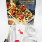Glorious Garnishes book & kit 9 utensils peeler curler baller cake decorator more