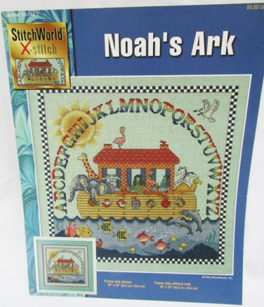 Noah's Ark cross stitch pattern from Stitch World