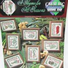 Cross stitch pattern booklet Thyme for all Seasons spice designs chives garlic