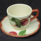 Franciscan ware Apple cup and saucer made USA nice