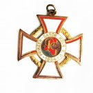 Prinzen Garde Kohn 1934 brass metal necklace pendant white red enamel paint old