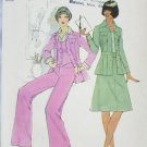 Simplicity 7393 misses unlined jacket, vest, pants and skirt UNCUT size 12