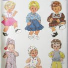 Simplicity 8376 doll pattern Sizes small medium large UNCUT