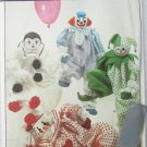 "Simplicity 8379 clown doll  pattern size 20"" has transfers UNCUT"