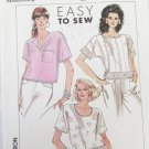Simplicity 9205 misses pullover top blouse size PT S M pattern