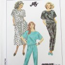 Simplicity 9569 misses pull on skirt pants and top sizes P S M L pattern
