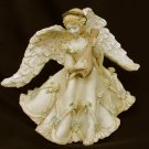 United Design Corp angel with mandolin rosettes on gown 1992 figurine