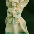 United Design Corp angel praying blue accent on gown figurine 1991