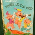 Three Little PIgs Walt Disney 1948 edition original ending Golden Book