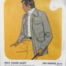 Kandel man's leisure jacket pattern 508 sizes 36 to 42 UNCUT for knit fabrics retro