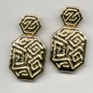 Avon  Golden Maze clip earrings