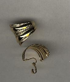 Avon  Textured clip hoops earrings