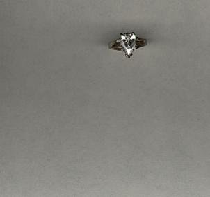 Avon Sterling Silver pear CZ Ring- Size 7
