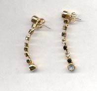 Avon  Day into Evening pierced earrings- Jet Black