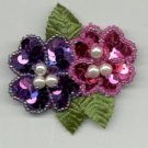 Avon  Floral Sequin Pin