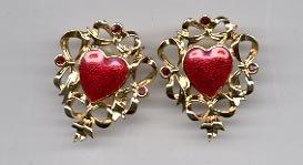 Avon  Festive Heart Pierced Earrings